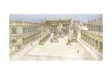 Imperial Forum, Rome Giclee Print by Fernando Aznar Cenamor