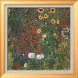 Farm Garden with Sunflowers, c.1912 Posters by Gustav Klimt