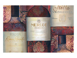 Red Wine Selection Prints by Louise Montillio