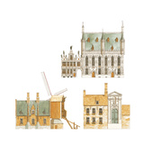 Bruges, Belgium, Town Hall and Traditional Houses Giclee Print by Fernando Aznar Cenamor