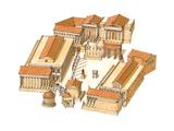 Imperial Forum, Rome, Aerial View Giclee Print by Fernando Aznar Cenamor