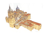 Salamanca Cathedral, Spain Giclee Print by Fernando Aznar Cenamor