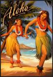 Aloha, Hawaii Poster by Kerne Erickson