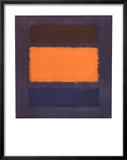 Untitled, Brown and Orange on Maroon Prints by Mark Rothko