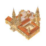 Santiago De Compostela Cathedral, Spain Giclee Print by Fernando Aznar Cenamor