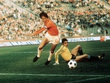 World Cup 1974: Johan Cruyff in Action Fotografisk tryk