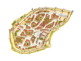 Carcassonne, France, Aerial View Giclee Print by Fernando Aznar Cenamor