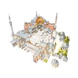 Hagia Sophia, Istambul, Turquey Giclee Print by Fernando Aznar Cenamor