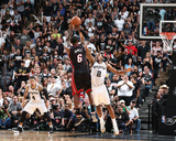 2014 NBA Finals Game Two: Jun 8, Miami Heat vs San Antonio Spurs - Lebron James Photographic Print by Nathaniel S. Butler