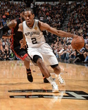 2014 NBA Finals Game Two: Jun 8, Miami Heat vs San Antonio Spurs - Kawhi Leonard Photographic Print by Andrew Bernstein