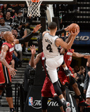 2014 NBA Finals Game One: Jun 05, Miami Heat vs San Antonio Spurs - Danny Green, Ray Allen Photographic Print by Andrew Bernstein