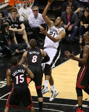 2014 NBA Finals Game Five: Jun 15, Miami Heat vs San Antonio Spurs - Tim Duncan Photographic Print by Joe Murphy