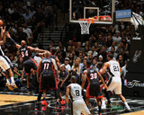 2014 NBA Finals Game Two: Jun 8, Miami Heat vs San Antonio Spurs - Kawhi Leonard, Ray Allen Photographic Print by Garrett Ellwood
