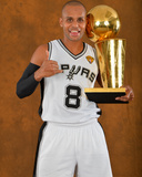 2014 NBA Finals Game Five: Jun 15, Miami Heat vs San Antonio Spurs - Patty Mills Photographic Print by Jesse D. Garrabrant