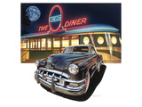 Pontiac Chieftain '50 at The Circle Diner Print by Graham Reynold