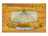 Ancient Egyptian Sailing Boat Print
