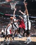 2014 NBA Finals Game One: Jun 5, Miami Heat vs San Antonio Spurs - Dwyane Wade, Tim Duncan Photo by Nathaniel S. Butler