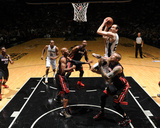 2014 NBA Finals Game Two: Jun 8, Miami Heat vs San Antonio Spurs - Manu Ginobili Photographic Print by Garrett Ellwood