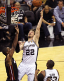 2014 NBA Finals Game Two: Jun 8, Miami Heat vs San Antonio Spurs - Tiago Splitter Photographic Print by Issac Baldizon