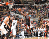 2014 NBA Finals Game Two: Jun 8, Miami Heat vs San Antonio Spurs - Mario Chalmers Photographic Print by Jesse D. Garrabrant