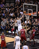 2014 NBA Finals Game One: Jun 5, Miami Heat vs San Antonio Spurs - Manu Ginobili Photographic Print by Noah Graham