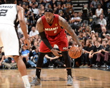 2014 NBA Finals Game One: Jun 5, Miami Heat vs San Antonio Spurs - Lebron James Photographic Print by Andrew Bernstein