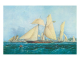 Yachting, Scene off Cowes Isle of Wight Posters by Thomas Sewell Robins