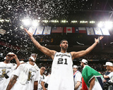 2014 NBA Finals Game Five: Jun 15, Miami Heat vs San Antonio Spurs - Tim Duncan Photographic Print by Nathaniel S. Butler