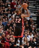 2014 NBA Finals Game Two: Jun 08, Miami Heat vs San Antonio Spurs - James Jones Photographic Print by Andrew Bernstein
