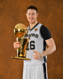 2014 NBA Finals Game Five: Jun 15, Miami Heat vs San Antonio Spurs - Aron Baynes Photographic Print by Jesse D. Garrabrant
