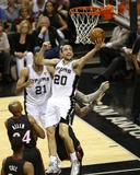2014 NBA Finals Game Two: Jun 8, Miami Heat vs San Antonio Spurs - Manu Ginobili Photographic Print by Joe Murphy