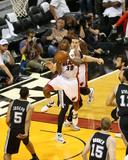 2014 NBA Finals Game Three: Jun 10, Miami Heat vs San Antonio Spurs - Norris Cole Photographic Print by Joe Murphy