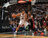 2014 NBA Finals Game Two: Jun 8, Miami Heat vs San Antonio Spurs - Tim Duncan Photographic Print by Jesse D. Garrabrant