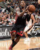 2014 NBA Finals Game Two: Jun 8, Miami Heat vs San Antonio Spurs - Mario Chalmers Photographic Print by Andrew Bernstein