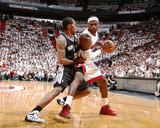 2014 NBA Finals Game Three: Jun 10, Miami Heat vs San Antonio Spurs - Kawhi Leonard, LeBron James Photographic Print by Nathaniel S. Butler