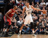 2014 NBA Finals Game One: Jun 5, Miami Heat vs San Antonio Spurs - Chris Bosh, Tim Duncan Photo by Andrew Bernstein
