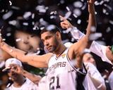 2014 NBA Finals Game Five: Jun 15, Miami Heat vs San Antonio Spurs - Tim Duncan Photographic Print by Noah Graham
