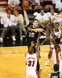 2014 NBA Finals Game Four: Jun 12, Miami Heat vs San Antonio Spurs - Aron Baynes Photographic Print by Joe Murphy