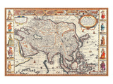 Antique Map, Asia, 1626 Posters by John Speed