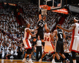 2014 NBA Finals Game Four: Jun 12, Miami Heat vs San Antonio Spurs - Tiago Splitter Photographic Print by Jesse D. Garrabrant