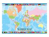 World Map for Kids Plakater
