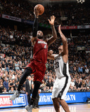 2014 NBA Finals Game One: Jun 05, Miami Heat vs San Antonio Spurs - Lebron James Photographic Print by Andrew Bernstein