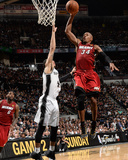 2014 NBA Finals Game One: Jun 5, Miami Heat vs San Antonio Spurs - Danny Green, Ray Allen Photographic Print by Andrew Bernstein