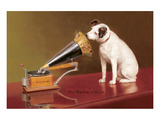 His Master's Voice-advertentie Posters