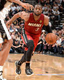 2014 NBA Finals Game One: Jun 05, Miami Heat vs San Antonio Spurs - Dwayne Wade Photographic Print by Andrew Bernstein
