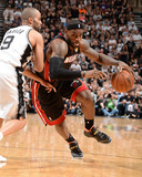 2014 NBA Finals Game Two: Jun 8, Miami Heat vs San Antonio Spurs - LeBron James, Tony Parker Photo by Andrew Bernstein