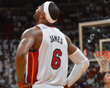 2014 NBA Finals Game Three: Jun 10, Miami Heat vs San Antonio Spurs - Lebron James Photographic Print by Jesse D. Garrabrant
