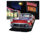 Buick '56 at Martha's Diner Affiches par Graham Reynold
