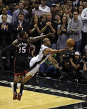 2014 NBA Finals Game Two: Jun 8, Miami Heat vs San Antonio Spurs - Tony Parker Photographic Print by Issac Baldizon
