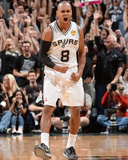 2014 NBA Finals Game Five: Jun 15, Miami Heat vs San Antonio Spurs - Patty Mills Photographic Print by Andrew Bernstein